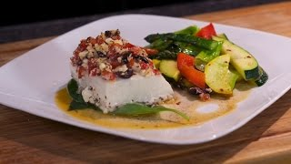 Mediterranean Halibut With Squash Medley - Cooking Today With Chef Brooks