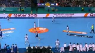 island vs france 8Th (1st half) handball 2013