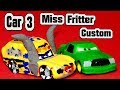 Pixar Car 3 Miss Fritter From Lightning McQueen And Retired Chick Hicks And Bonus 100,000 Sub Plaque
