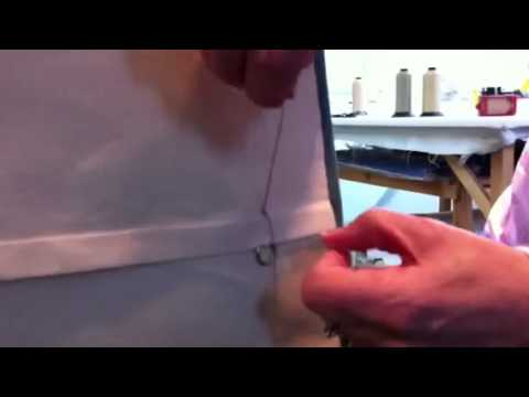 How to stab stitch a roman blind. Part 2