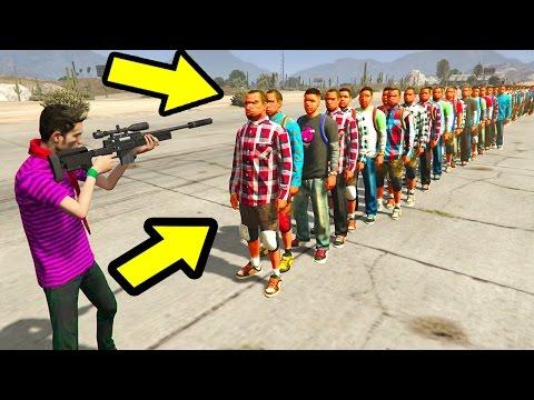CAN 1 BULLET KILL 100+ PEOPLE IN GTA 5?