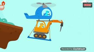 Trò chơi DINOSAUR DIGGER khủng long lái xe công trình làm nhiệm vụ