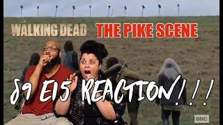 "The Walking Dead S9 E15 ""The Calm Before"" (PIKE SCENE) - REACTION!!!"