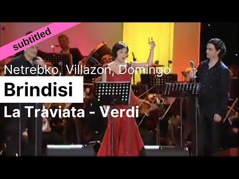 Opera Lyrics - Anna Netrebko, Rolando Villazon, Placido Domingo ♪ Brindisi - Libiamo (La Traviata)