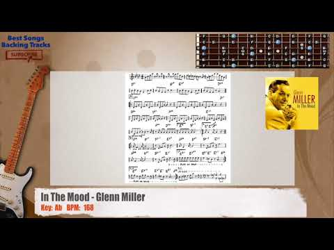 In The Mood - Glenn Miller Guitar Backing Track with chords and lyrics