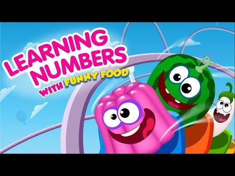 Learning Numbers With Funny Food Education Cartoons For Kids And Toddlers Youtube