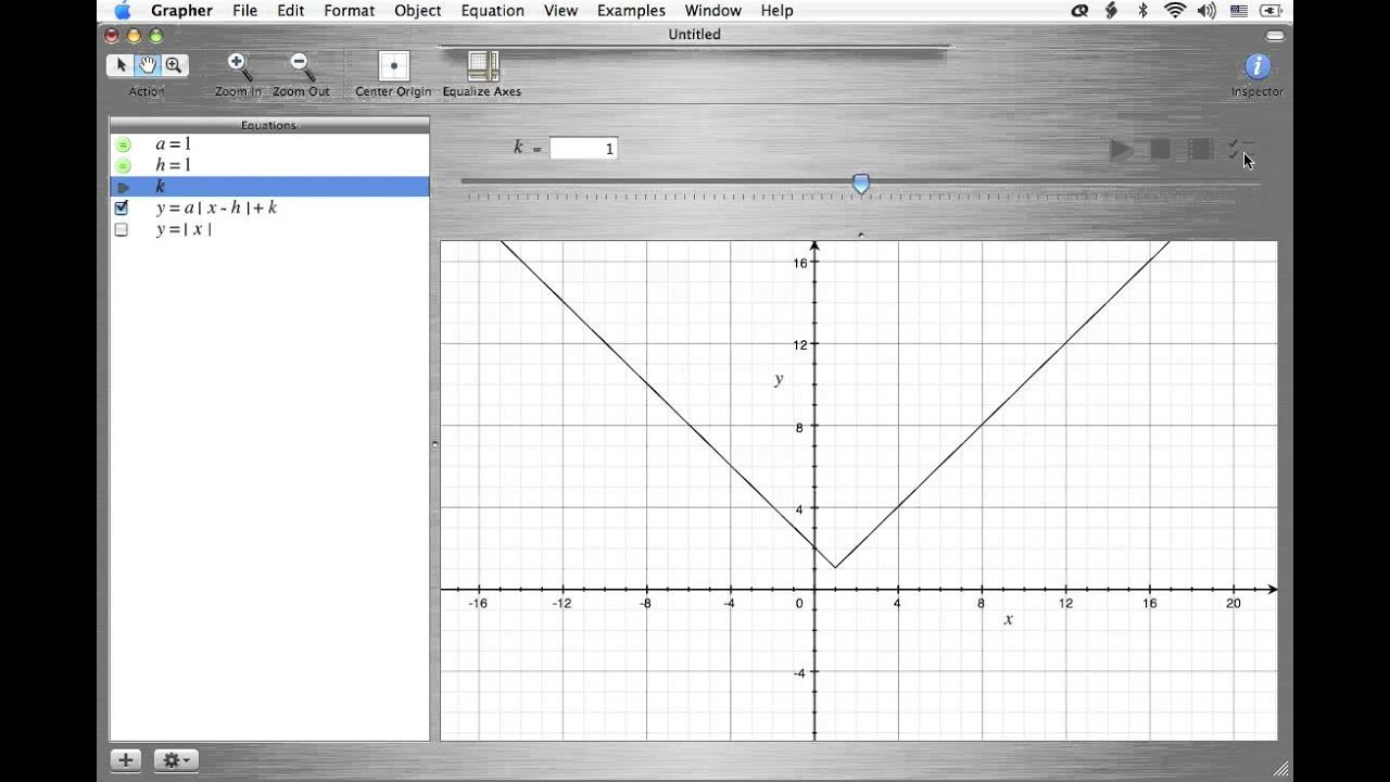 Graphing Absolute Value Functions: What a, h, & k Do - Mac Grapher ...