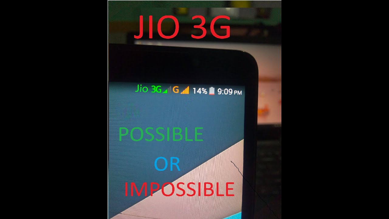 'How to use Jio simcard in 3G mobiles'