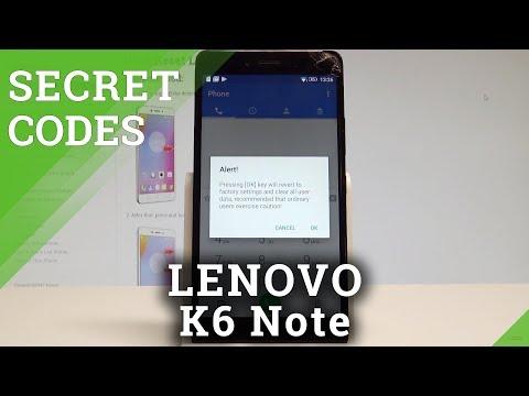 Codes LENOVO K6 Note - HardReset info