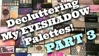 LIVE CHAT: DECLUTTERING My HUGE Eyeshadow Palette Collection! PART 3| Jen Luvs Reviews