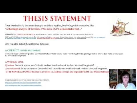 Book Analysis Part 5/6 How To Formulate A Correct Thesis Statement.