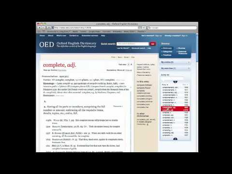 Oxford English Dictionary Assignment