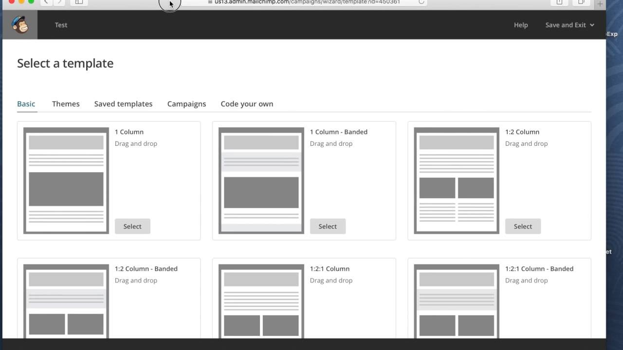 How To Export Responsive Email Files For MailChimp YouTube - 2 column responsive email template