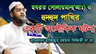 Hafizur Rahman Siddiki Waz 2019 হযরত সোলাইমান(আঃ) ও হুদহুদ পাখির ঘটনা Bangla Waz 2019