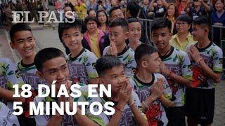 El relato de los niños de la cueva de Tailandia: 18 días en 5 minutos