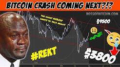 BITCOIN CRASH DUMP TO $3800!? 🆘😳Crypto Live Stream Analysis TA & BTC USD Cryptocurrency Price News