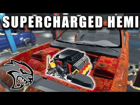 HELLCAT CHALLENGER ENGINE REBUILD| Car Mechanic Simulator 2018