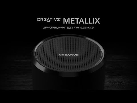 Creative Metallix 24-hour Battery Life, Ultra-portable and Compact Bluetooth Speaker