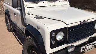 Motodrome Land Rover Defender 110 TD5 hardtop for sale walk around