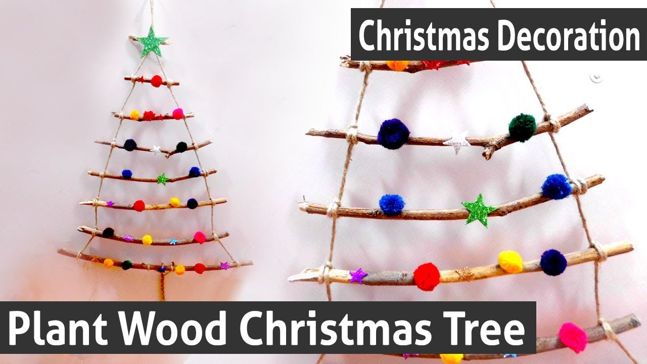 diy christmas decoration how to make your own plant wood christmas tree creative christmas tree - Wooden Christmas Decorations To Make