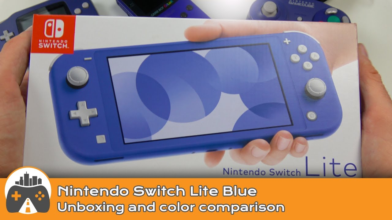 [Nintendo Switch Lite Blue] Unboxing and Color Comparison