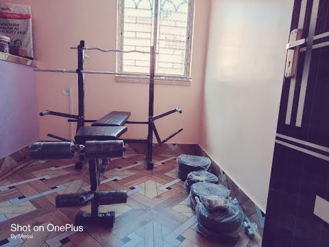 Home Gym Set Up | Unboxing | Setup | 8 In 1 Multipurpose Fitness Bench | 50 Kg Weights
