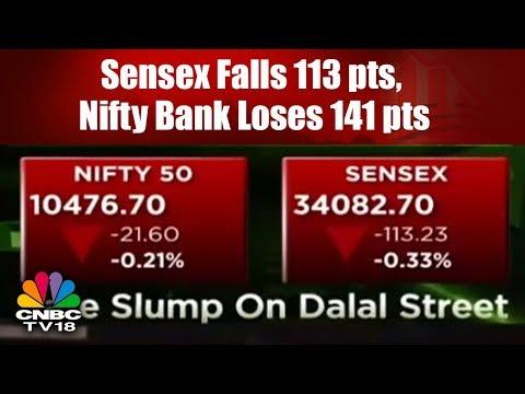 Closing Bell: Sensex Falls 113 pts, Nifty Bank Loses 141 pts after RBI Sounds Hawkish | CNBC TV18
