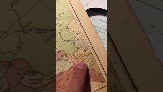 Чечня. Карта Кавказа 17 века.