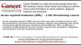 Gambar cover Acute myeloid leukemia (AML)  - a life threatening cancer