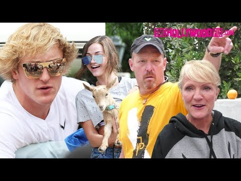 Logan Paul & Family Visit Jake While Erika Poses With A Goat After Tessa Brooks Hacking 8.15.17