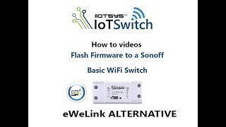 Sonoff switch firmware upgrade