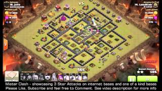 3 Star TH9 Eclipse style base GoWiWi, clash of clans clan war