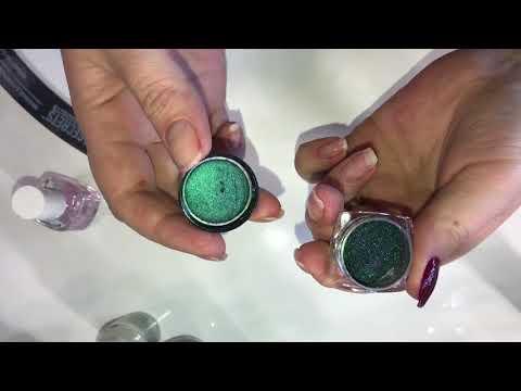 Втирка на обычный лак для ногтей в домашних условиях. Зеркальный маникюр на обычный лак для ногтей.