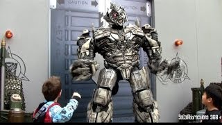 [HD] HILARIOUS Transformers Megatron Having Fun with Guests - Interactive Talking Transformers
