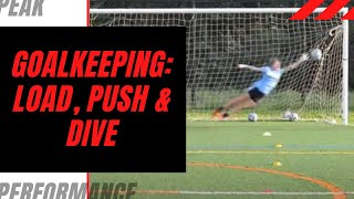 Goalkeeper Training: Load the Front Leg, Push Off & Dive