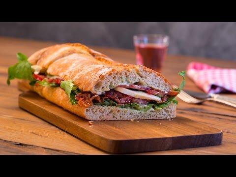 Caprese Bacon Ciabatta Sandwich - Italienisch genießen #chefkoch