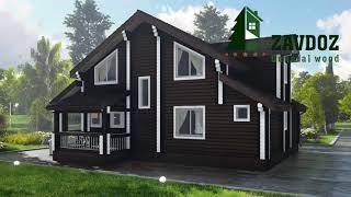 Деревянный дом из клееного бруса. Проект дома 12027.(, 2017-08-22T07:37:54.000Z)