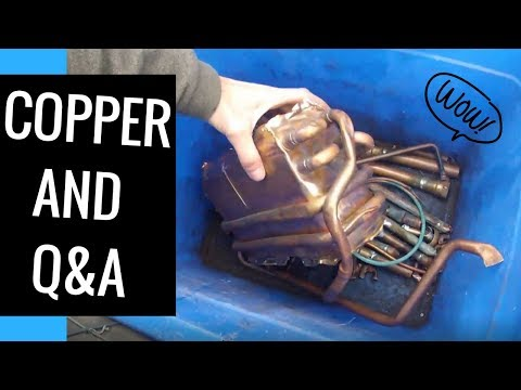Nice haul of copper and brass to the scrap yard. Questions and Answers.