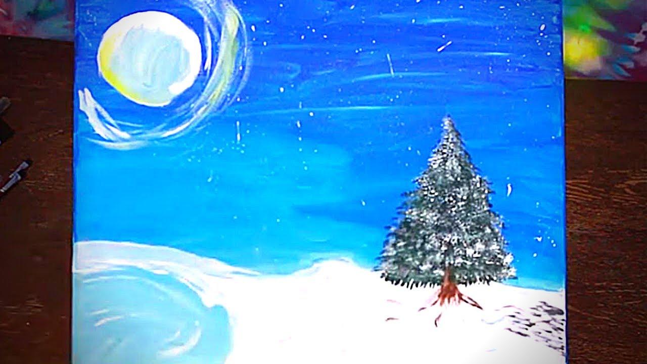 Easy Acrylic Painting - Isolation - Beginner Acrylic ...