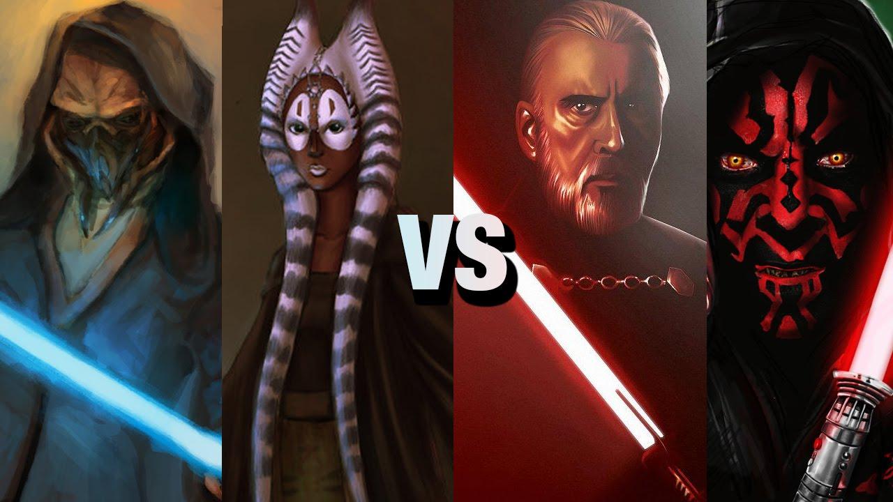 star wars versus series plo koon shaak ti vs darth tyranus