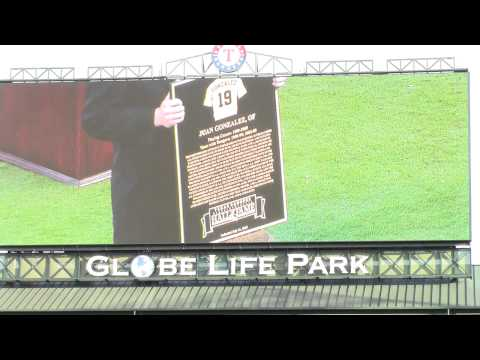 2015 Texas Rangers Hall of Fame Ceremony with Jeff Russell and Juan Gonzalez inducted Part 1