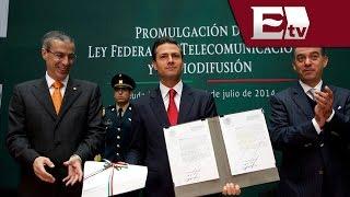 Promulga el presidente Enrique Peña Nieto la Ley de Telecomunicaciones/ Dinero