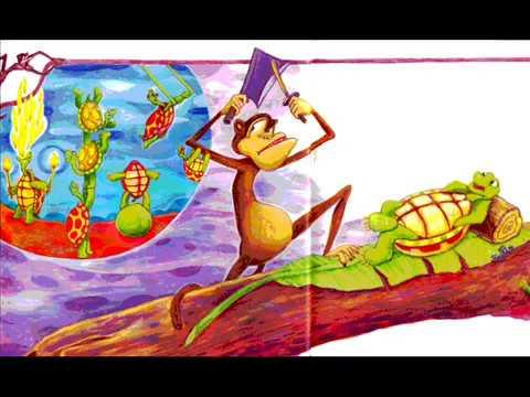 ang pagong at ang matsing komiks Noong unang panahon ang talukab ng pagong ay makinis at walang mga lamat tulad ng sa ngayon palaging ipinagmamalaki ni pagong ang kanyang talukab araw-araw niya itong nililinis at pinapakintab.
