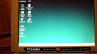 1998 Toshiba Satellite 4015CDT running Windows 98 SE