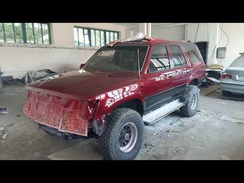 Paint Job Toyota Hilux Surf 130 To Red Pearl | Покраска Сюрфа в красный перламутр комбинированный