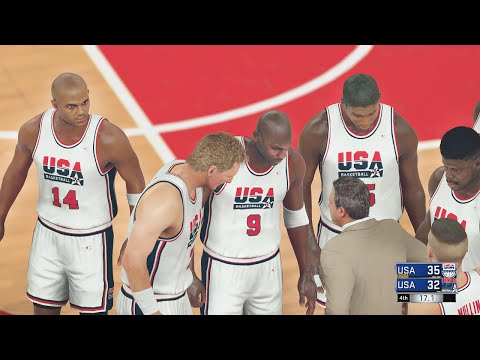 NBA 2K17 - 1992 DREAM TEAM VS TEAM USA GAMEPLAY | CLUTCH SHOTS! 60FPS (HD)