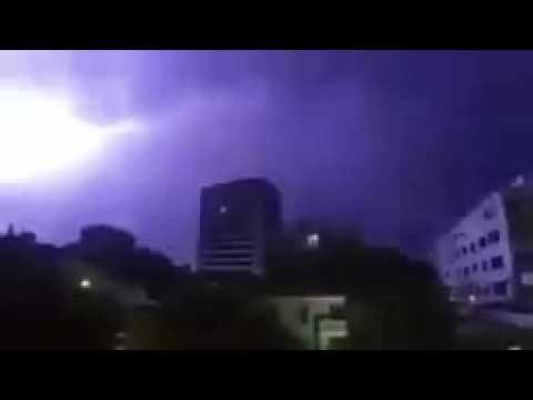 Hyderabad thundering at a rainy night