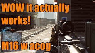 BF4 - Dont know why I am using this sight lol | M16 w Acog