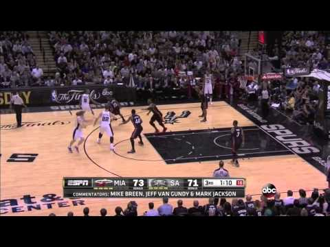 San Antonio Spurs Offense 2014 NBA Finals