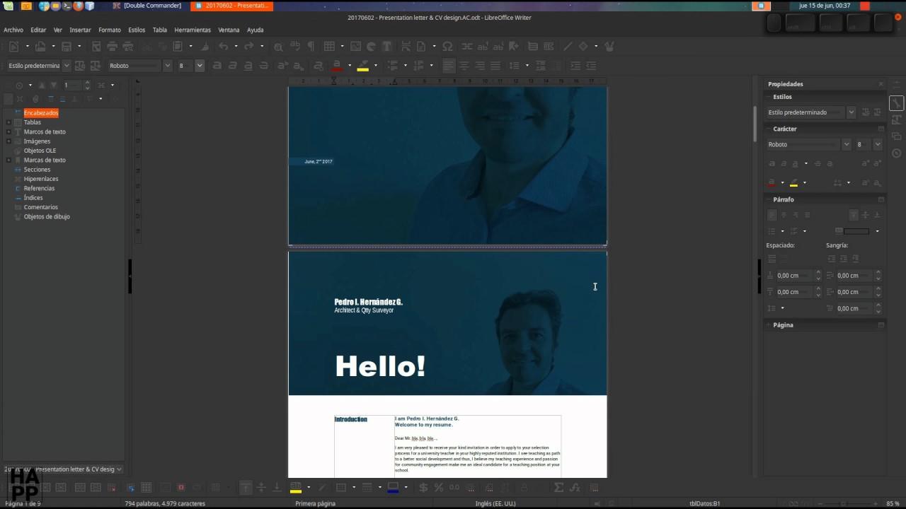 LibreOffice Writer Avanzado: creación de currículum de diseño I ...